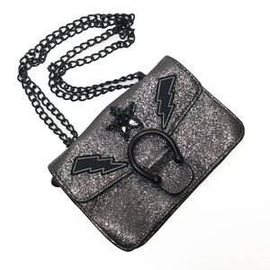 Steve Madden Odette Gunmetal Glitter Purse Bag